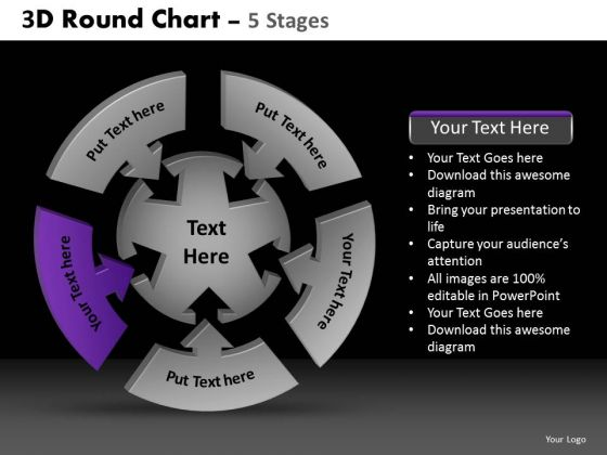 PowerPoint Process Company Round Chart Ppt Slide