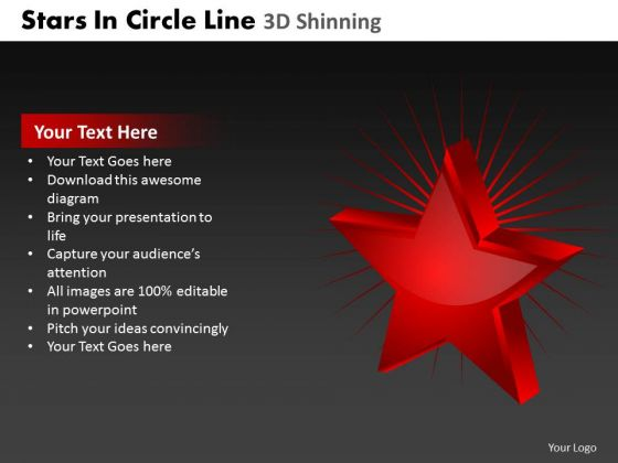 PowerPoint Process Company Stars In Circle Ppt Design Slides