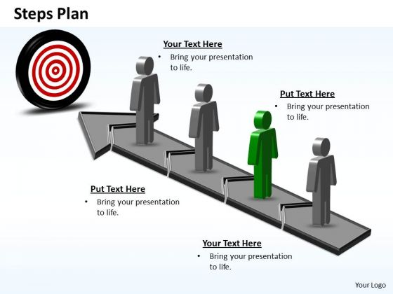 PowerPoint Process Company Steps Plan 4 Stages Style 6 Ppt Theme
