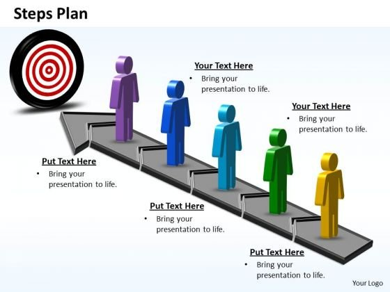 PowerPoint Process Company Steps Plan 5 Stages Style 6 Ppt Slides