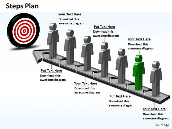 PowerPoint Process Company Steps Plan 7 Stages Style 6 Ppt Template