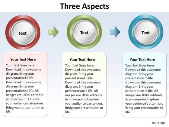 PowerPoint Process Company Three Aspects Ppt Slide Designs