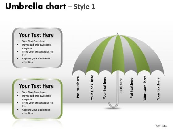 PowerPoint Process Company Umbrella Chart Ppt Layouts