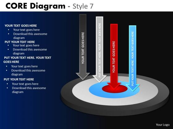 PowerPoint Process Corporate Growth Core Diagram Ppt Layout