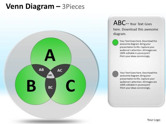 PowerPoint Process Corporate Leadership Targets Venn Circular Diagram Ppt Slides