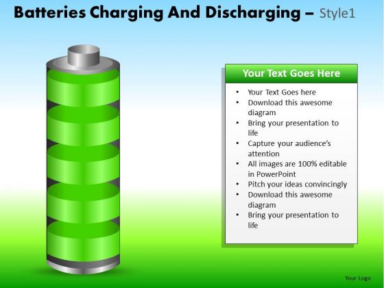 PowerPoint Process Corporate Success Batteries Charging Ppt Theme