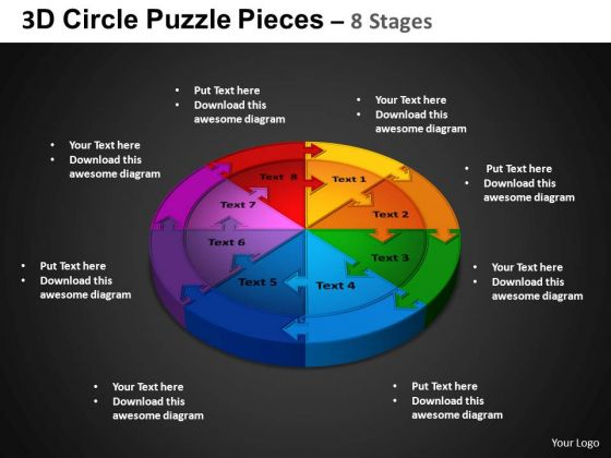 PowerPoint Process Cycle Chart Circle Puzzle Diagram Ppt Design