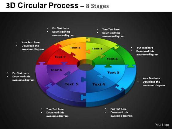 PowerPoint Process Cycle Chart Circular Process Ppt Templates
