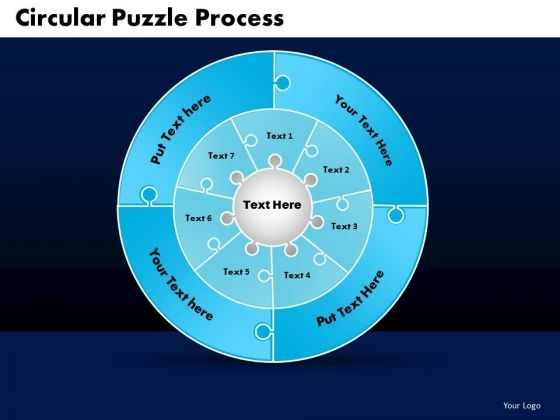 PowerPoint Process Cycle Process Circular Puzzle Ppt Backgrounds