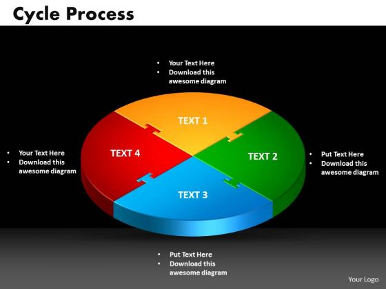 PowerPoint Process Cycle Process Growth Ppt Slides