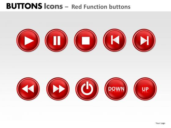 PowerPoint Process Diagram Buttons Icons Ppt Backgrounds