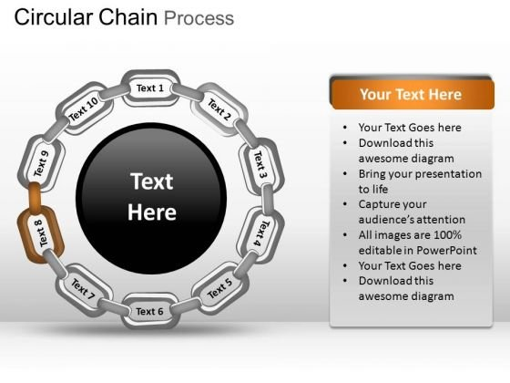 PowerPoint Process Diagram Circular Chain Ppt Designs