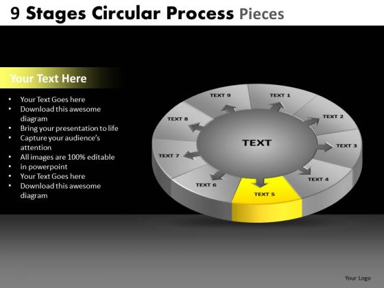 PowerPoint Process Diagram Circular Process Ppt Template