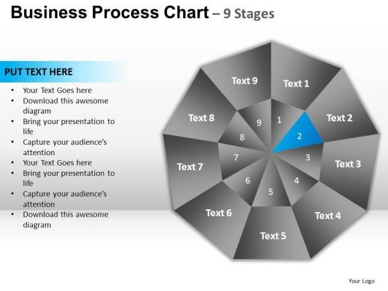PowerPoint Process Diagram Circular Quadrant Ppt Slide