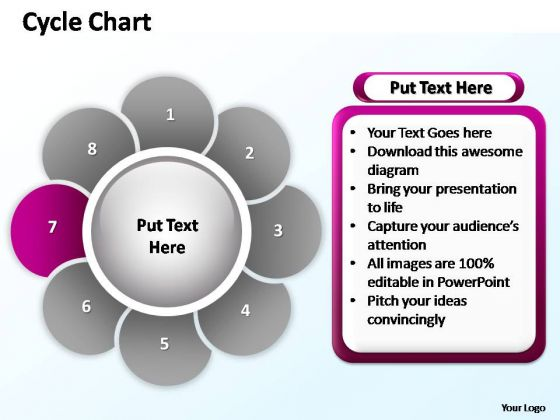 PowerPoint Process Diagram Cycle Chart Ppt Template
