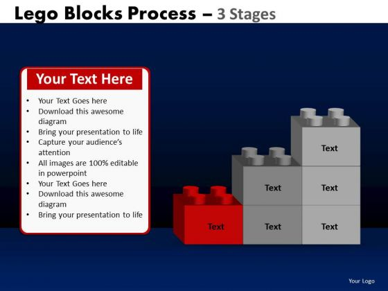 PowerPoint Process Diagram Lego Blocks Ppt Design