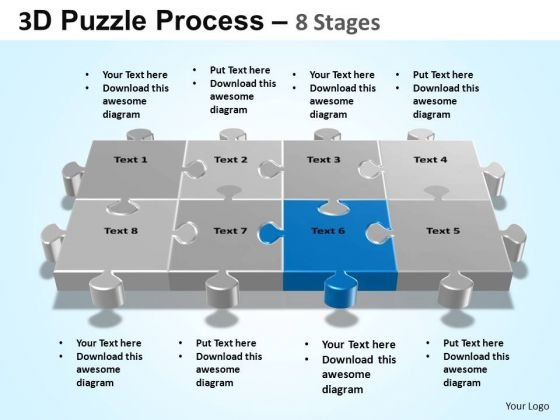 PowerPoint Process Diagram Puzzle Process Ppt Template