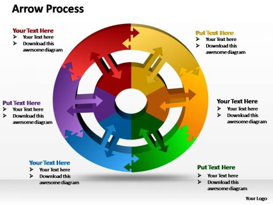 PowerPoint Process Diagram Round Moving Ppt Slide