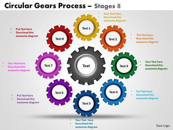 PowerPoint Process Download Circular Gears Ppt Slide