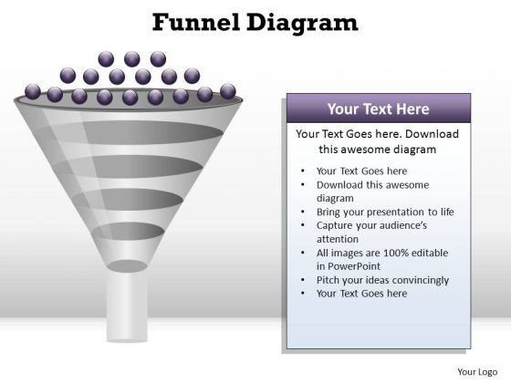 PowerPoint Process Download Funnel Diagram Ppt Template