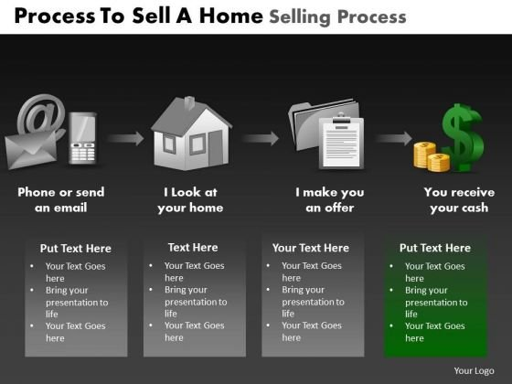 PowerPoint Process Download Home Selling Process Ppt Backgrounds
