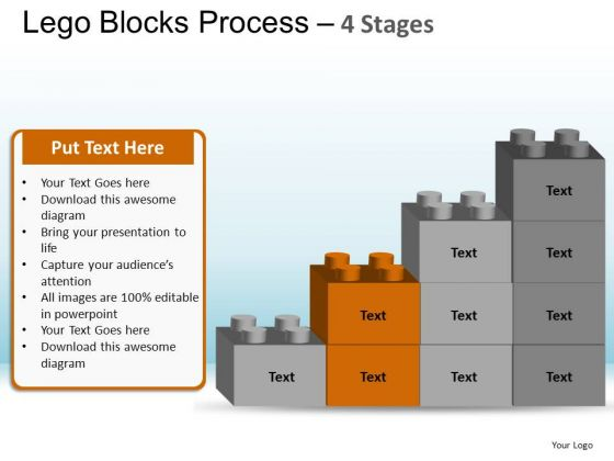 PowerPoint Process Download Lego Blocks Ppt Theme