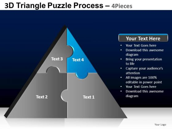 PowerPoint Process Download Triangle Puzzle Ppt Layouts