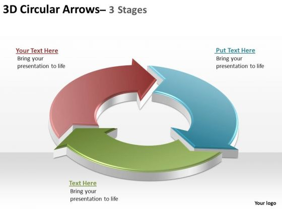 PowerPoint Process Editable Circular Arrows Ppt Design