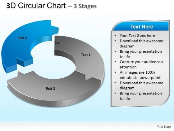 PowerPoint Process Editable Circular Chart Ppt Design Slides