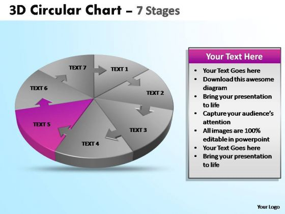 PowerPoint Process Editable Circular Ppt Design