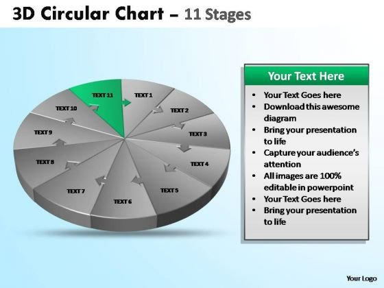 PowerPoint Process Editable Circular Ppt Themes