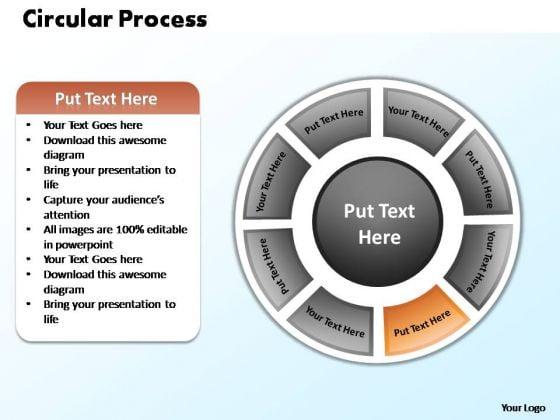PowerPoint Process Editable Circular Process Ppt Template