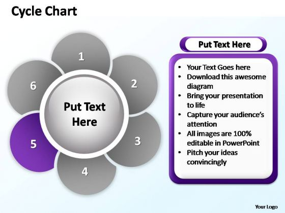 PowerPoint Process Editable Cycle Chart Ppt Template