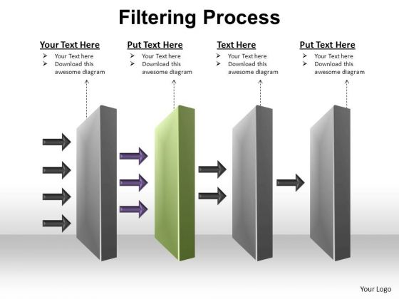PowerPoint Process Editable Filtering Process Ppt Slide Designs