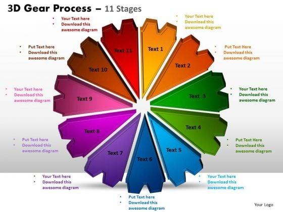 PowerPoint Process Editable Gear Process Ppt Template