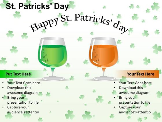 PowerPoint Process Editable Patricks Day Ppt Design Slides