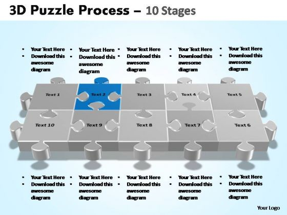 PowerPoint Process Editable Puzzle Process Ppt Backgrounds