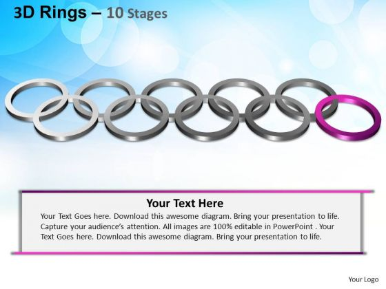 PowerPoint Process Editable Rings Ppt Theme
