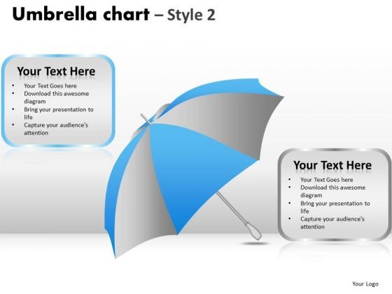 PowerPoint Process Editable Umbrella Chart Ppt Theme