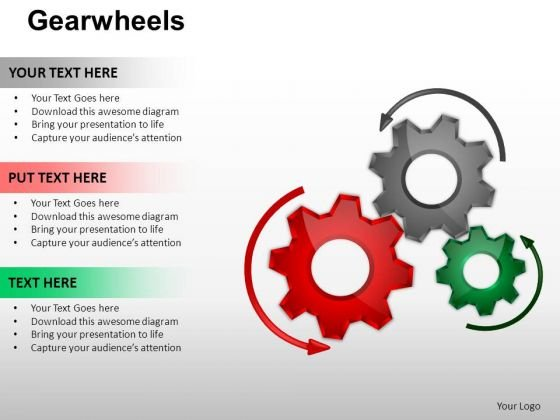 PowerPoint Process Education Gear Wheel Ppt Layouts