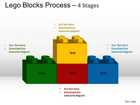 PowerPoint Process Education Lego Blocks Ppt Design Slides