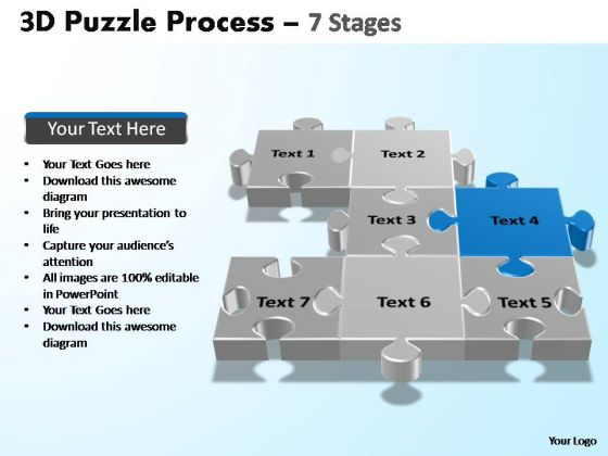 PowerPoint Process Education Puzzle Process Ppt Templates