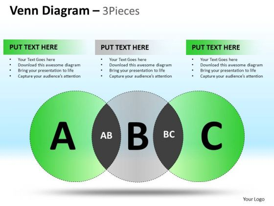 PowerPoint Process Executive Competition Venn Circle Chart Diagram Ppt Presentation
