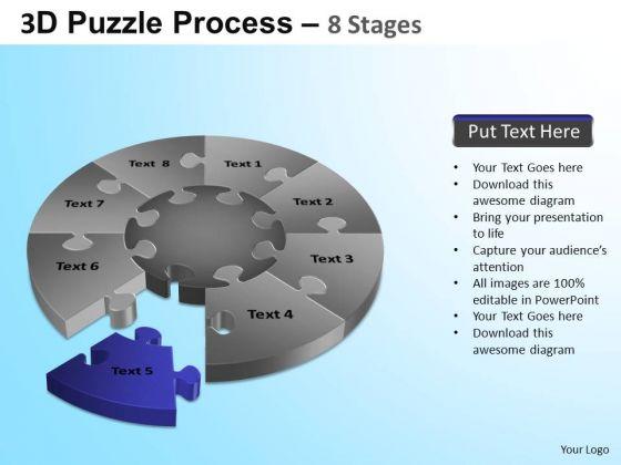 PowerPoint Process Executive Education Puzzle Segment Pie Chart Ppt Theme