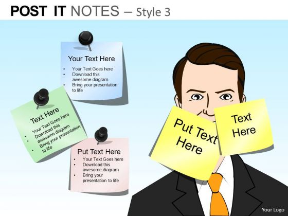 PowerPoint Process Executive Leadership Post It Notes Ppt Theme