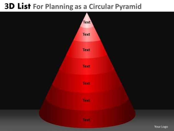PowerPoint Process Executive Leadership Targets 3d Pyramid List Ppt Theme