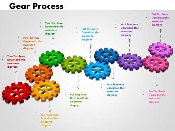 PowerPoint Process Gears Process Success Ppt Slides