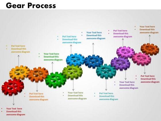 PowerPoint Process Gears Process Teamwork Ppt Template
