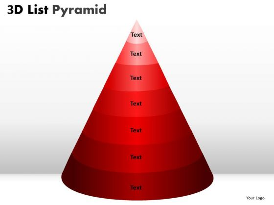 PowerPoint Process Global Bulleted List Pyramid Ppt Templates