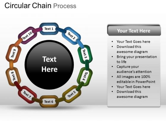 PowerPoint Process Global Circular Chain Ppt Process
